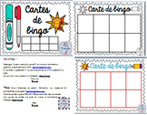 EDITABLE Bingo cards/ MODIFIABLE carte de bingo
