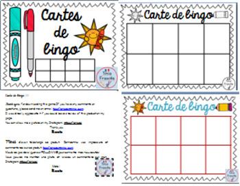 Croissant EDITABLE Bingo cards/ MODIFIABLE carte de bingo by Tocafrances | TpT TW-34