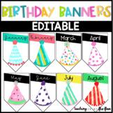 EDITABLE Birthday Banners