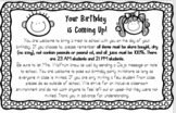EDITABLE Birthday Treat & Party Note