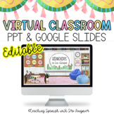 EDITABLE Colorful Virtual Classroom Template - Distance Learning