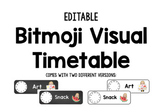 EDITABLE Bitmoji Daily Visual Timetable Schedule Cards