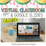 EDITABLE Virtual Classroom Template Slide - Distance Learning