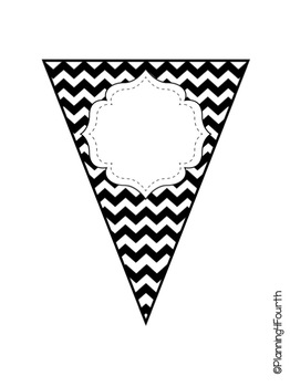 EDITABLE Black and White Pennant Pack