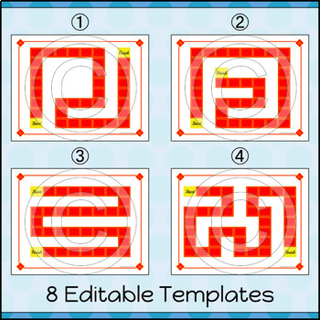 EDITABLE Board Game Templates | Chinese New Year