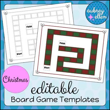 EDITABLE Board Game Templates | Christmas