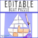 EDITABLE Boat Puzzle | Create a Craft, Activities, or Review ANY Topic!