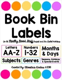 EDITABLE Book Bin/Box Labels - Fit Really Good Stuff Book Label Holders - White