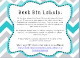 EDITABLE Library/Book Bin Labels!