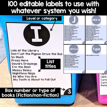 EDITABLE Book Bin Labels: Perfect for Guided Reading