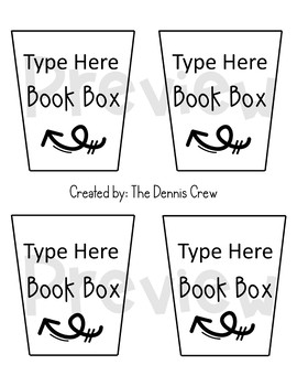 EDITABLE Book Box Labels | Ink Friendly!