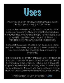 EDITABLE Book Club Template