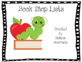 EDITABLE Book Shopping Lists