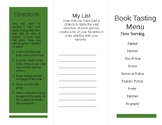 EDITABLE Book Tasting Menu