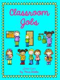 EDITABLE Bright Classroom Job Cards