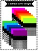 EDITABLE Bright Rainbow Binder Covers and Spines