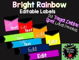 EDITABLE Bright Rainbow Labels (Fit Target Dollar Spot Pouches)