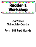 EDITABLE Bright Rainbow Schedule Cards