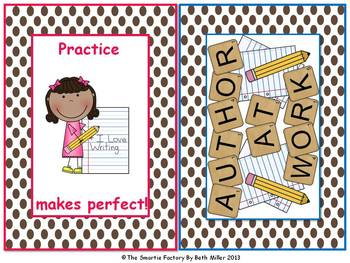 Word Wall Labels and Decor Packet:EDITABLE (Brown Polka Dot)