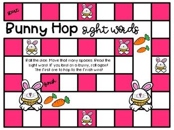 EDITABLE Bunny Hop Sight Word Game