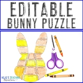 EDITABLE Bunny Puzzle - Make your own Easter Activities fo