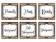 EDITABLE Burlap Labels Classroom Decor