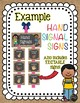 Hand Signals for the Classroom Burlap & Chalkboard Signs EDITABLE