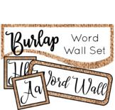 Burlap Word Wall Set Classroom Decor