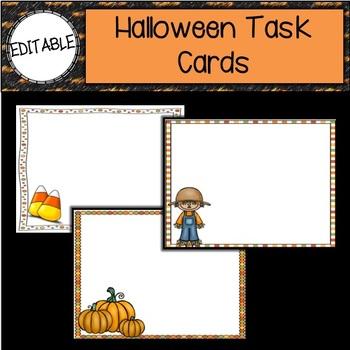 Halloween Editable Cards