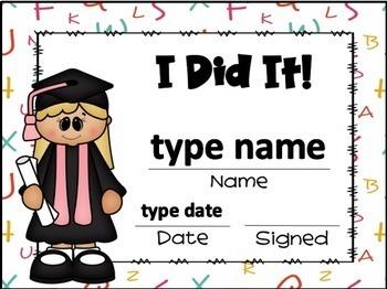 Editable Graduation Certificates
