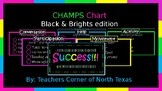EDITABLE CHAMPS Behavior Management Chart - Black & Bright