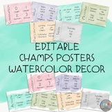 EDITABLE-CHAMPS Posters-Watercolor Decor