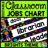 CLASSROOM JOBS EDITABLE WITH PICTURES POLKA DOTS BRIGHT CO