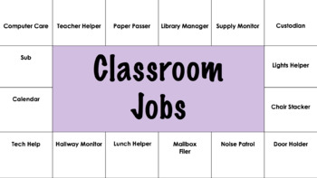 EDITABLE CLASSROOM JOBS *easy to manage and display*