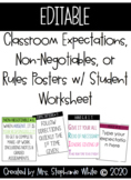 EDITABLE CLASSROOM NON-NEGOTIABLES / EXPECTATIONS/ RULES W