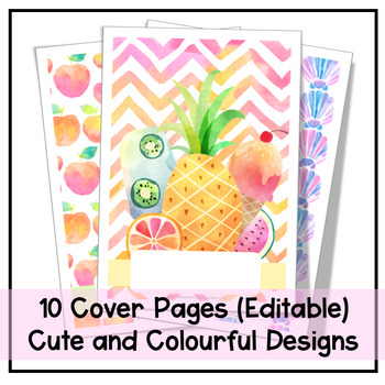 EDITABLE COVER PAGES FOR 2018 PRAC PLANNER