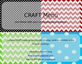 EDITABLE CRAFT/ CAFE Board-Isabella Classroom Theme