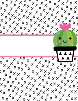 EDITABLE Cacti Binder Covers with Spines