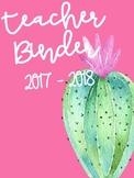 Cactus Teacher Binder