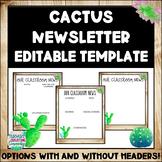EDITABLE Cactus Farmhouse Classroom Newsletter Template