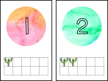 EDITABLE Cactus Number Cards 1-20