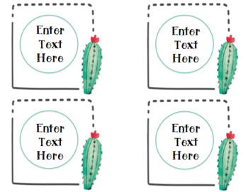 EDITABLE!!! Cactus Target Label Pockets