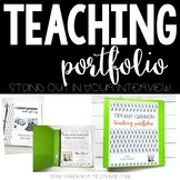 EDITABLE Cactus Teacher Portfolio   Rock Your Teacher Interview!!!