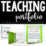 EDITABLE Cactus Teacher Portfolio | Rock Your Teacher Interview!!!