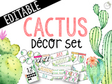 Cactus Themed *EDITABLE* Decor Bundle
