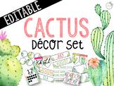 Cactus Themed *EDITABLE* Decor Pack