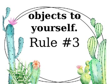 EDITABLE Cactus Theme Classroom Rules Posters