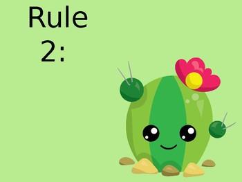 EDITABLE Cactus Themed Classroom Rules