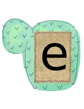 EDITABLE Cactus Welcome Banner!