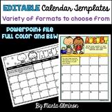 EDITABLE Calendar Templates {PowerPoint}